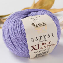 Gazzal Baby Cotton XL Lila Bebek Yünü -3420