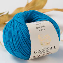 Gazzal Baby Cotton XL Mavi Bebek Yünü -3428