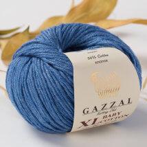 Gazzal Baby Cotton XL Mavi Bebek Yünü - 3431