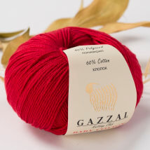 Gazzal Baby Cotton Açık Kırmızı Bebek Yünü -3439