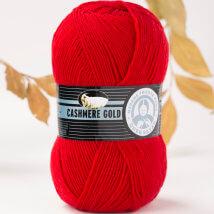 Örenbayan Cashmere Gold Kırmızı El Örgü İpi - 33-1795