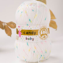 Örenbayan Candy Baby Benekli Bebek Yünü - 355-1897