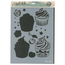 Cadence A4 Boyutunda Cupcake Stencil Şablon - AS469