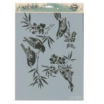 Cadence A4 Boyutunda Kuş Stencil Şablon - AS502