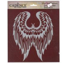 Cadence 25x25cm Kanat Silüet Stencil Şablon - KS102