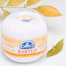 Dmc Babylo Beyaz Merserize Tığ ve El Örgü İpi No:10 - B5200