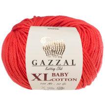 Gazzal Baby Cotton XL Kırmızı Bebek Yünü - 3418