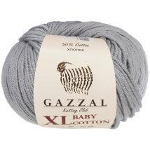 Gazzal Baby Cotton XL Gri Bebek Yünü - 3430