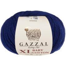 Gazzal Baby Cotton XL Lacivert Bebek Yünü - 3438