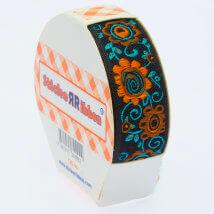 Sticker Ribbon Çiçek Baskılı Yapışkan Kurdele - SR-1699-V5