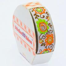Sticker Ribbon Çiçek Baskılı Yapışkan Kurdele - SR-1699-V1