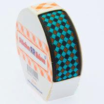 Sticker Ribbon Yeşil Kare Baskılı Yapışkan Kurdele - SR-1692-V4