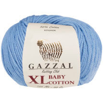 Gazzal Baby Cotton XL Mavi Bebek Yünü - 3423