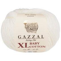 Gazzal Baby Cotton XL Beyaz Bebek Yünü - 3410