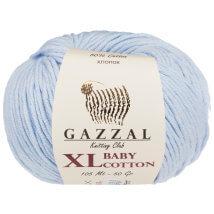 Gazzal Baby Cotton XL Mavi Bebek Yünü - 3429