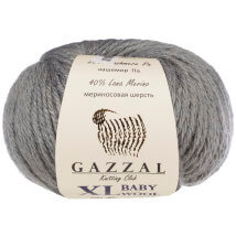 Gazzal Baby Wool XL Gri Bebek Yünü - 818
