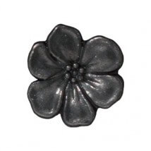 Tierra Cast 1 Adet 15.75x5 mm Siyah Çiçek Aksesuar Düğme - 94-6549-13