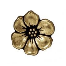 Tierra Cast 1 Adet 15.75x5 mm Altın Rengi Çiçek Aksesuar Düğme - 94-6549-27
