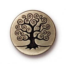 Tierra Cast 1 Adet 15.82 mm Altın Rengi Hayat Ağacı Aksesuar Düğme - 94-6562-27