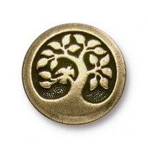 Tierra Cast 1 Adet 17 mm Altın Rengi Daldaki Kuş Aksesuar Düğme - 94-6577-27