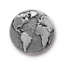 Tierra Cast 1 Adet 17 mm Gümüş Rengi Dünya Aksesuar Düğme - 94-6578-12