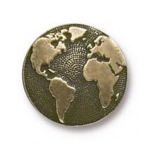 Tierra Cast 1 Adet 17 mm Altın Rengi Dünya Aksesuar Düğme - 94-6578-27