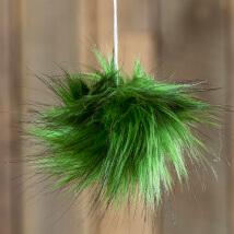 Diva Yeşil Siyah Fur Ponpon
