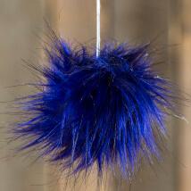 Diva Koyu Mavi Siyah Fur Ponpon