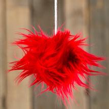 Diva Kırmızı Fur Ponpon