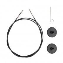 KnitPro Siyah 80 cm Tekli Ara Bağlantı Misinası - 10522