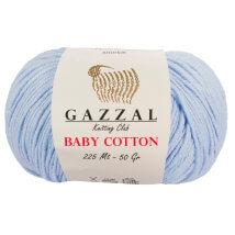 Gazzal Baby Cotton Açık Mavi Bebek Yünü - 3429