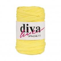 Diva Spaghetti Penye Kumaş Mavi Siyah Puantiyeli El Örgü İpi