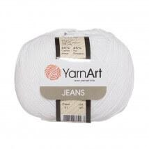YarnArt Jeans Beyaz El Örgü İpi - 01