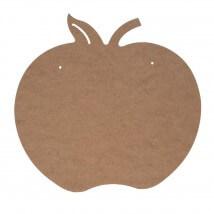 Hobi Sanat Boyanabilir Ahşap Elma Pano - BR030