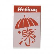 Hobium Fiyonklu Şemsiye Şekilli Stencil Şablon - 5219