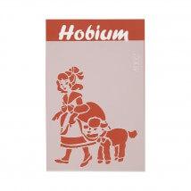 Hobium Kırmızı Başlıklı Kız Şekilli Stencil Şablon - 4002