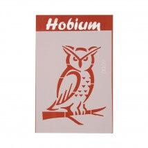 Hobium Baykuş Şekilli Stencil Şablon - 8069