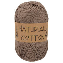 Diva Natural Cotton Açık Kahverengi El Örgü İpi