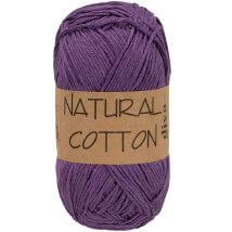 Diva Natural Cotton Mor El Örgü İpi