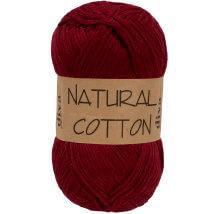 Diva Natural Cotton Bordo El Örgü İpi