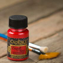 Cadence Dora Textile 50Ml(Cc) Kırmızı Metalik Kumaş Boyası - 1133