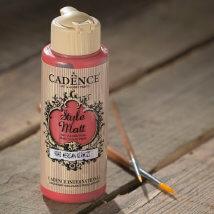 Cadence Style Mat 120Ml(cc) Mercan Kırmızı Akrilik Boya - 9042