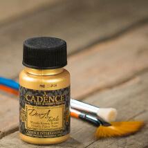 Cadence Dora Textile 50Ml(Cc) Altın Metalik Kumaş Boyası - 1136