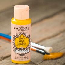 Cadence Style Matt 59Ml(Cc) Sarı Kumaş Boyası - 605