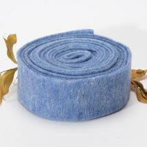Lehner Wolle 7,5cmx1m Mavi Yün Kumaş Keçe - T07-BL06