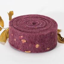 Lehner Wolle 7,5cmx1m Mor Yün Kumaş Keçe - E07-VI17