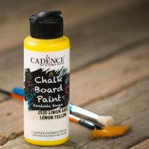 Cadence Chalk Paint 120Ml(Cc) Limon Sarı Kara Tahta Boyası - 2520