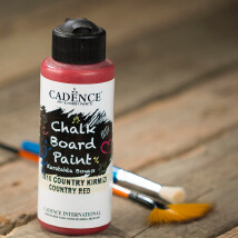 Cadence Chalk Paint 120Ml(Cc) Country Kırmızı Kara Tahta Boyası - 2610
