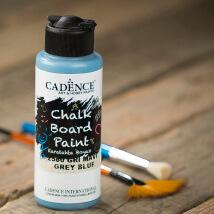 Cadence Chalk Paint 120Ml(Cc) Gri Mavi Kara Tahta Boyası - 2580