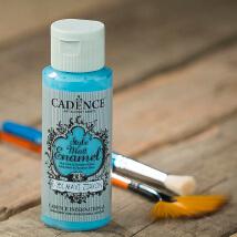 Cadence Enamel 59Ml(Cc) Mavi Zirkon Cam Ve Porselen Boyası - 351